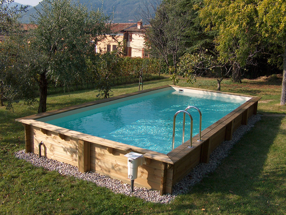 Piscine fuori terra cobel legno e piscine - Giardino con piscina fuori terra ...